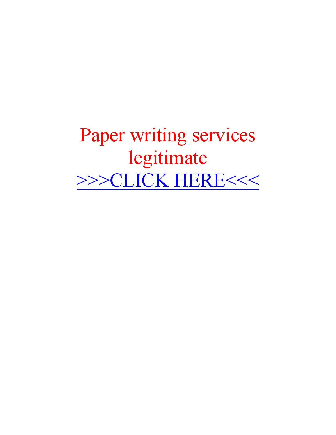Legit paper writing services
