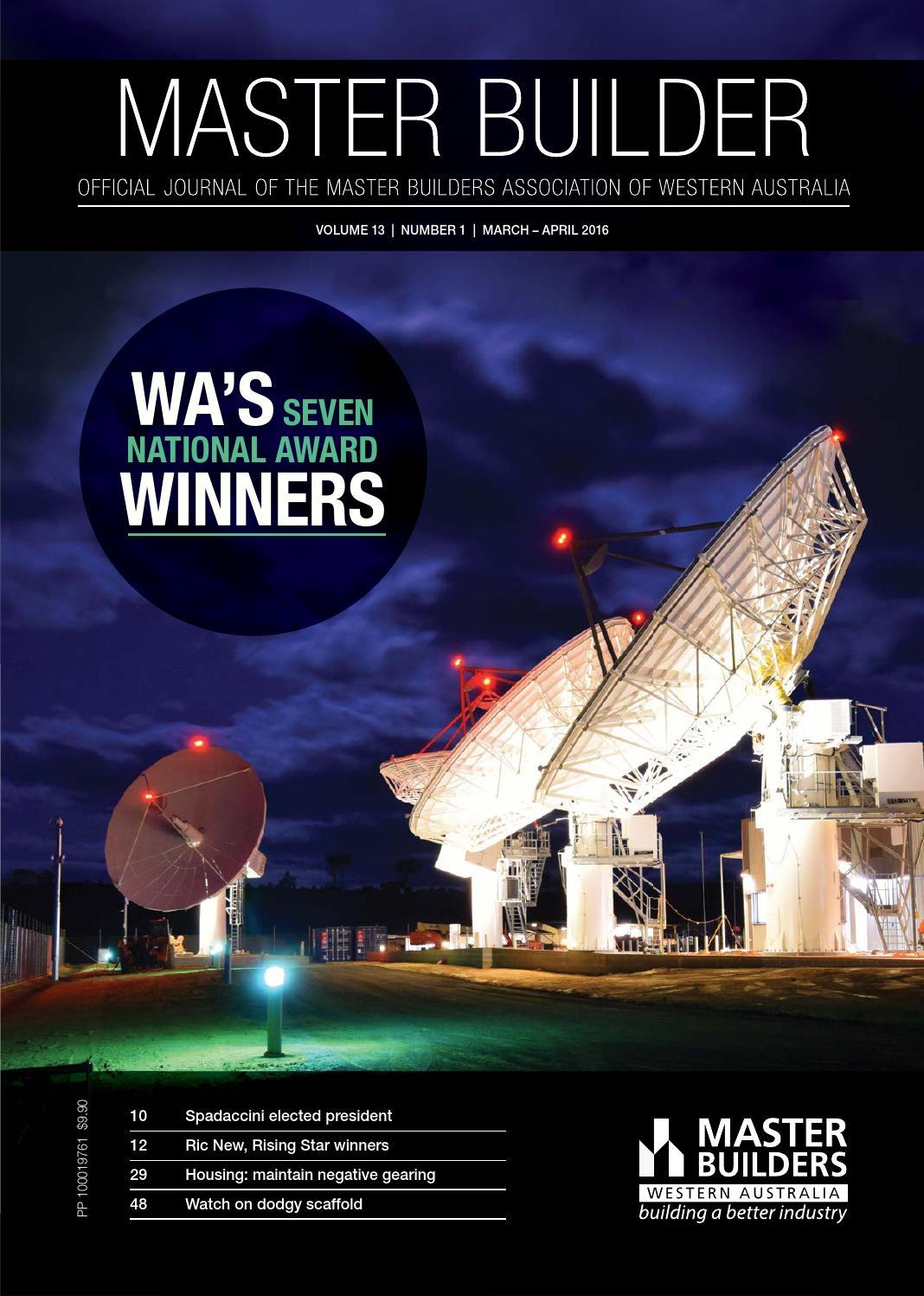 2016 Master Builders Western Australia Magazine March