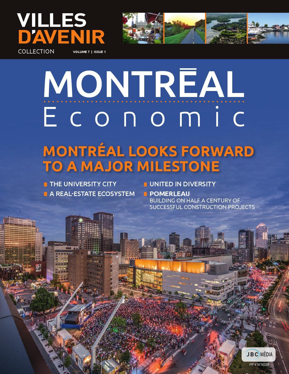 Villes d 39 avenir volume 7 issue 1 montr al economic for College laval piscine
