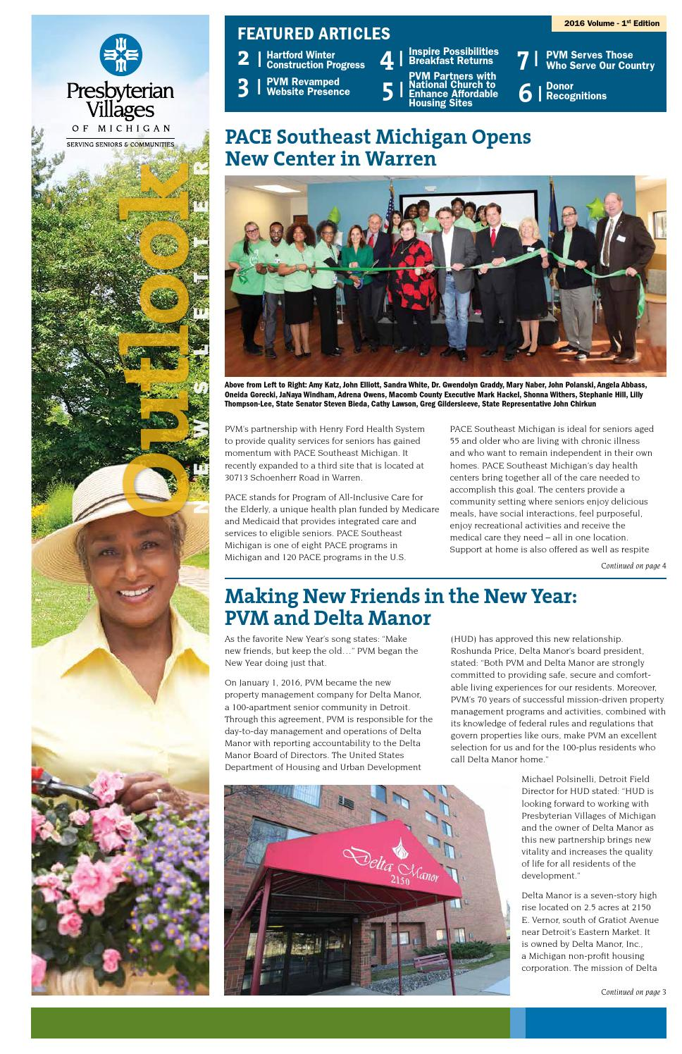pvm outlook spring by presbyterian villages of michigan issuu