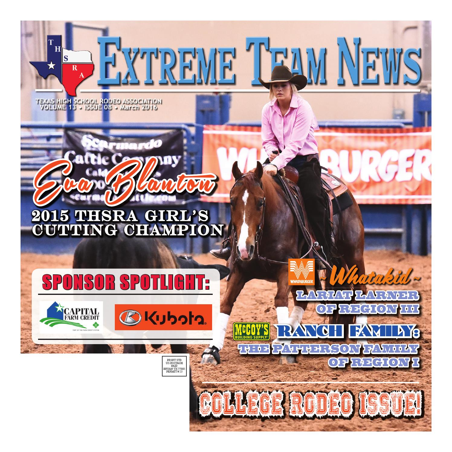 March 2016 Extreme Team News Official News Of Texas High