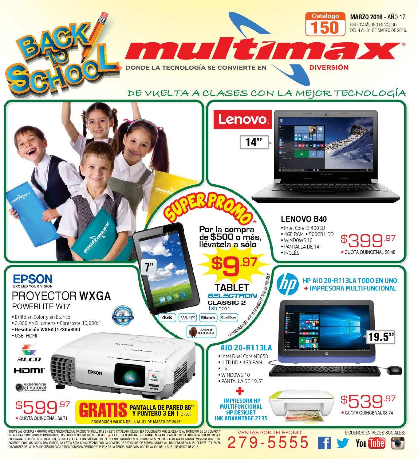 Catalogo de ofertas multimax marzo 2016 by interiores for Catalogo mi casa 2016