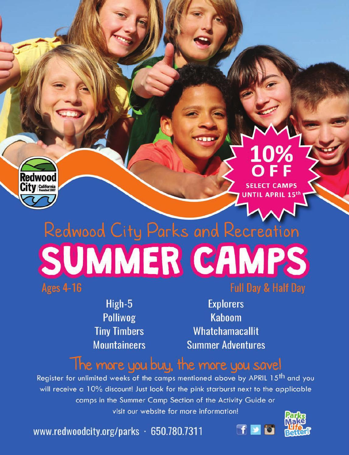 redwood city summer camps by redwood city parks recreation redwood city summer camps 2017 by redwood city parks recreation community services issuu