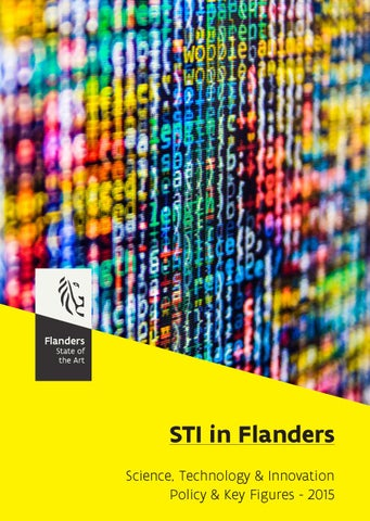 STI in Flanders : science, technology and innovation. Policy and key figures 2015