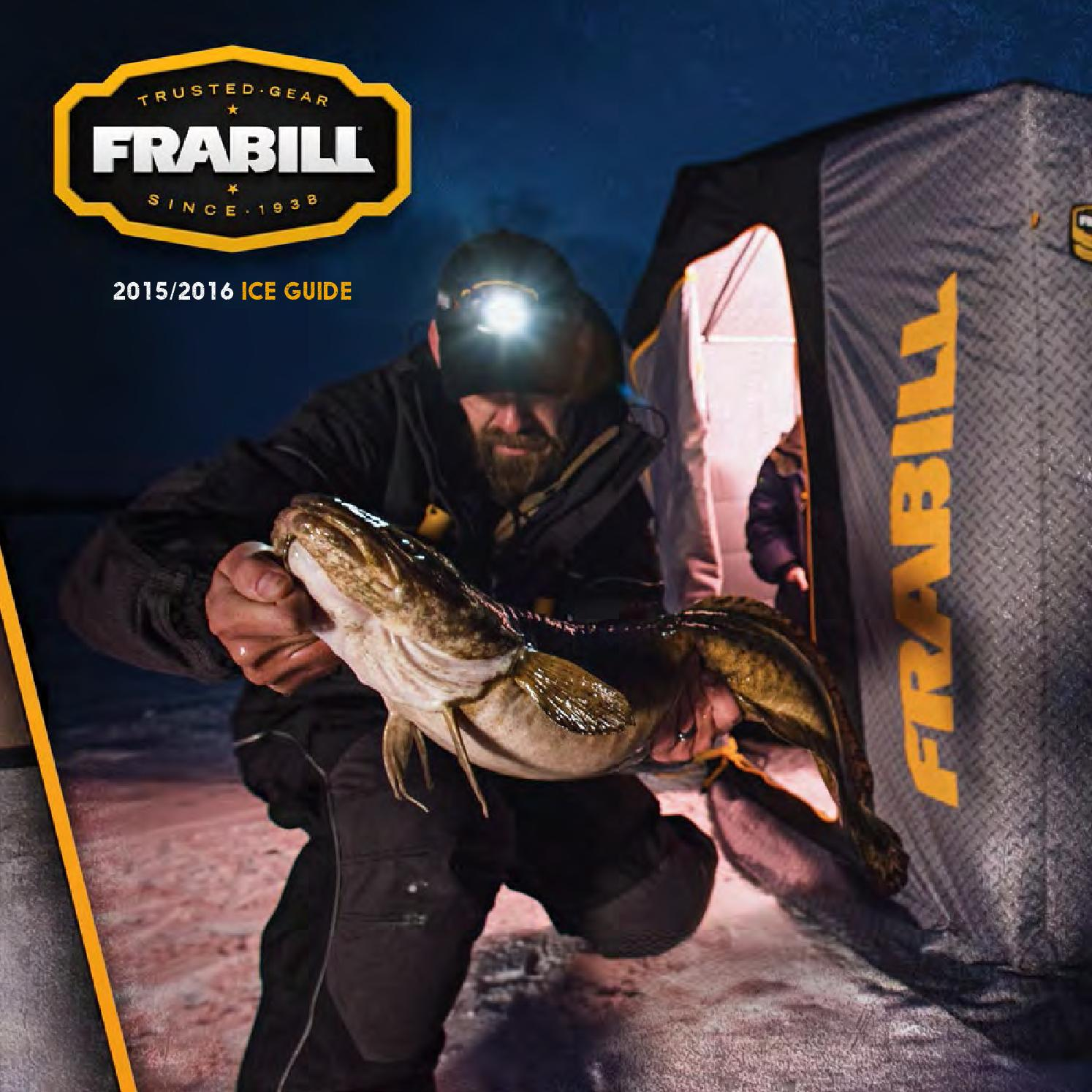 Frabill ice fishing 2016 product guide by planosynergy issuu for Frabill ice fishing suit