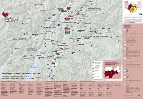 Mappa Strada del Vino e dei Sapori del Trentino 2016