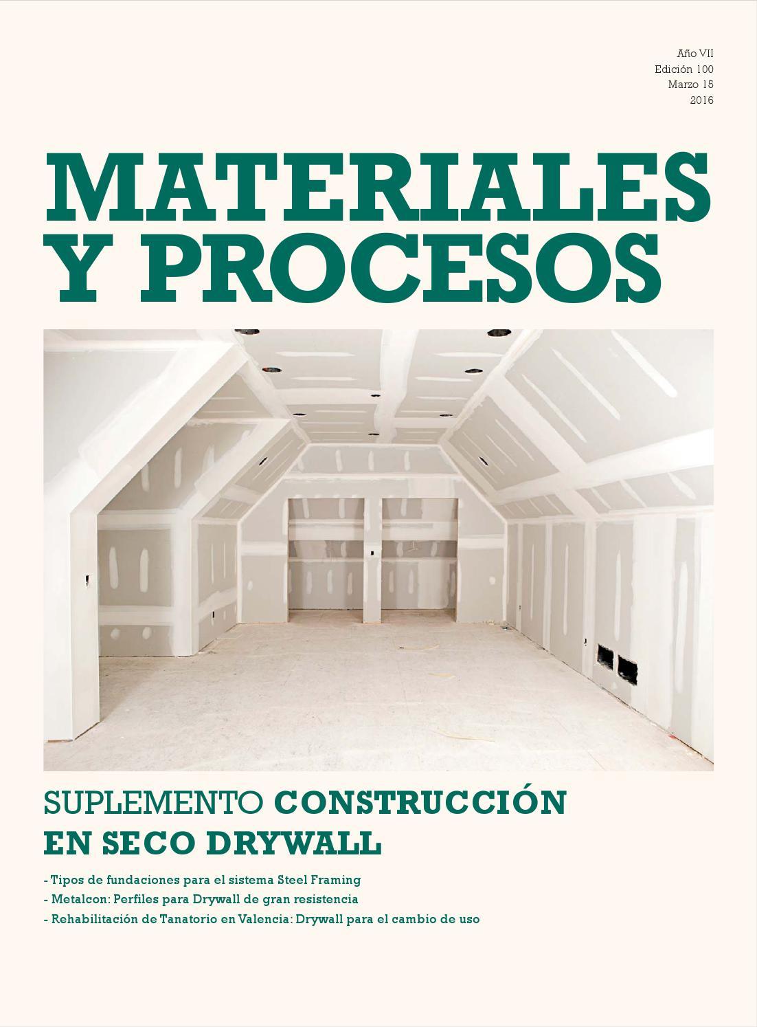 Suplemento construccion en seco drywall by construcci n y vivienda issuu - Materiales de construccion valencia ...