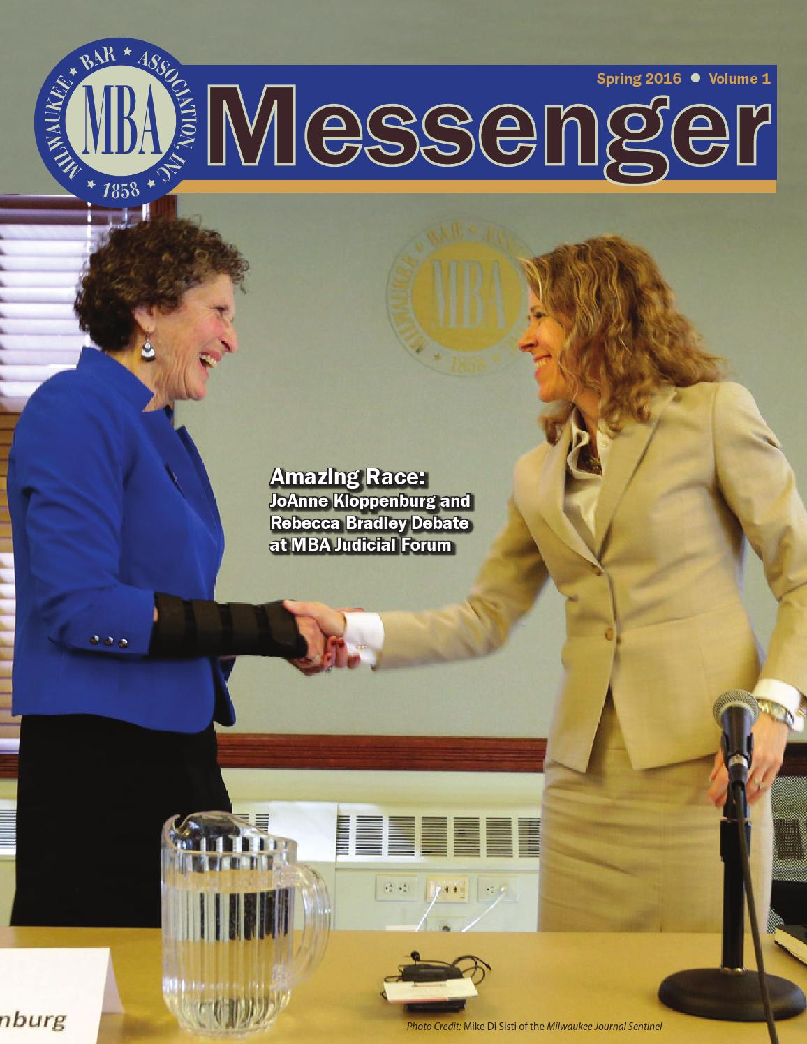 Judicial Nominations Part 2 >> MBA Messenger Spring 2016 by MBA-Alexander - issuu