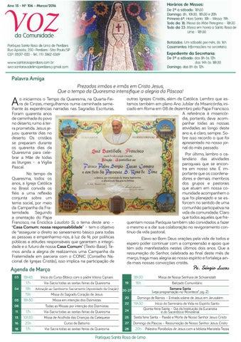 [Jornal Santa Rosa de Lima – Março/2016]