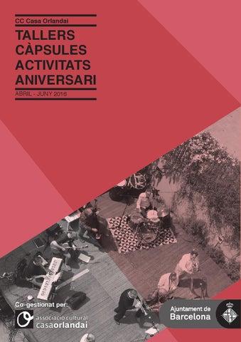 2016 Programa trimestral d\'activitats