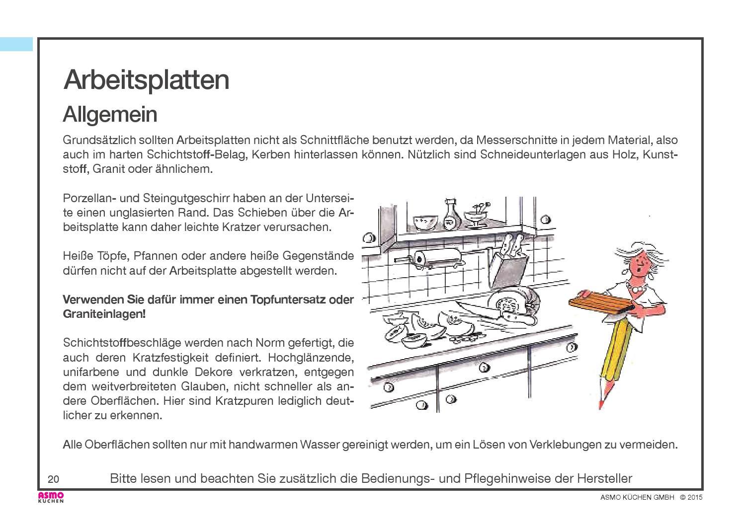 Asmo Küchen asmo küchen pflegeanleitung by steffen kley page 20 issuu
