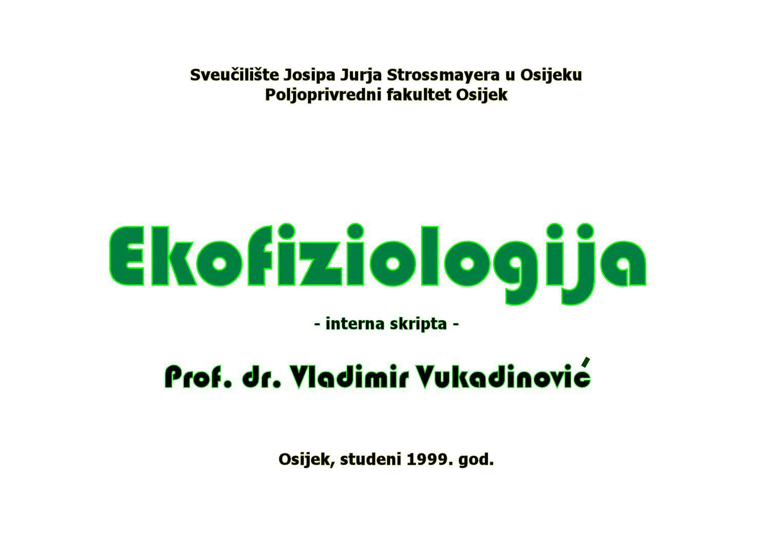 ekofiziologija by ivan �ile issuu