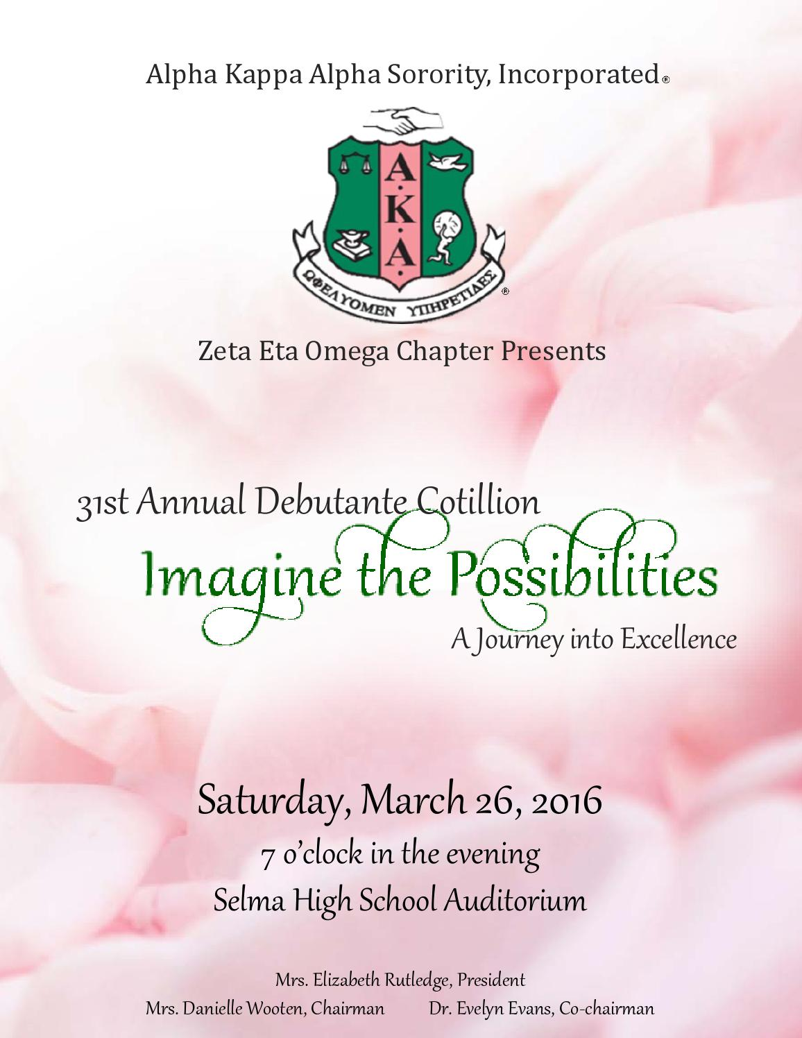Alpha Kappa Alpha Sorority Inc Zeta Eta Omega Chapter