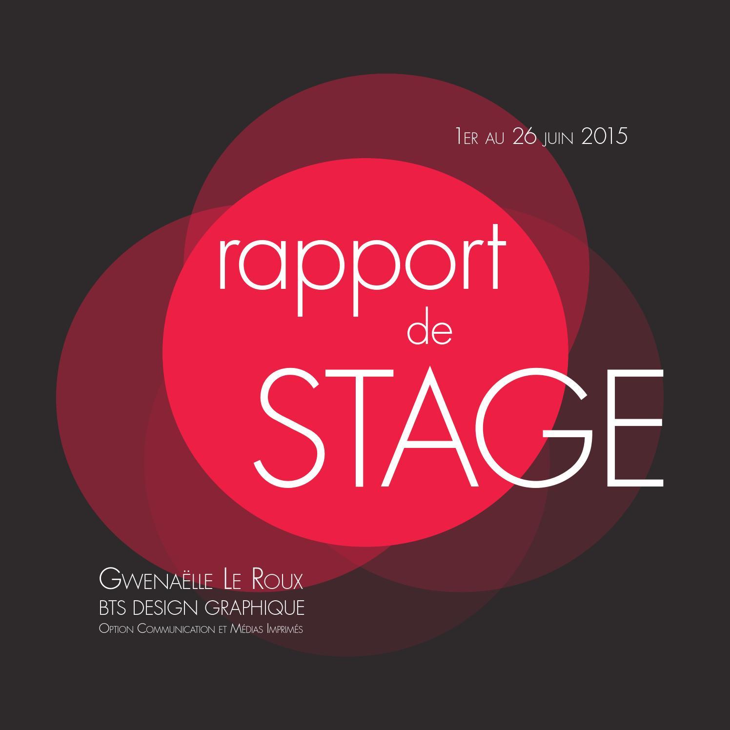 Doc Page De Garde Word Rapport De Stage
