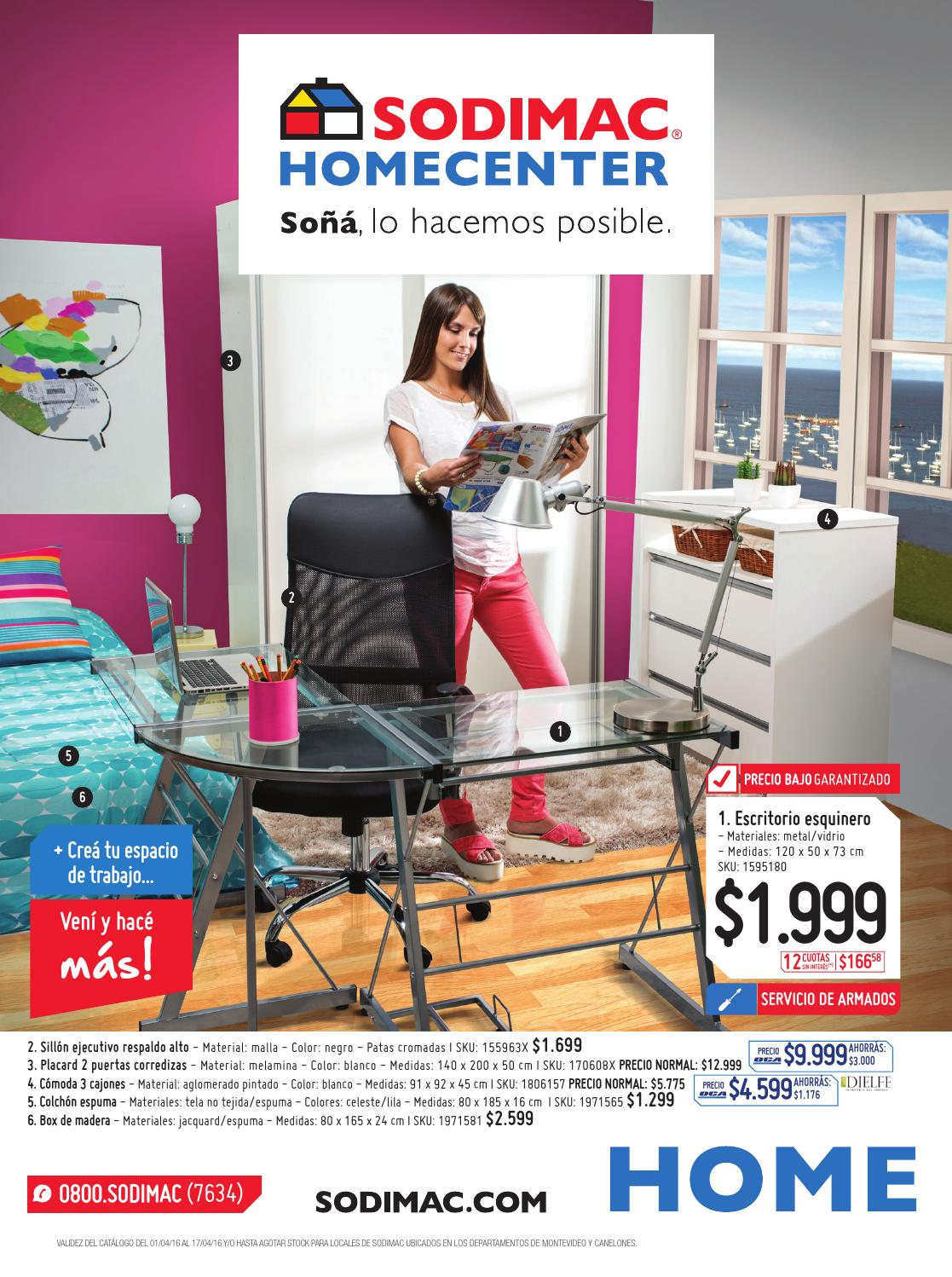 Sodimac homecenter cat logo abril 2016 uy by sodimac issuu for Escritorios homecenter