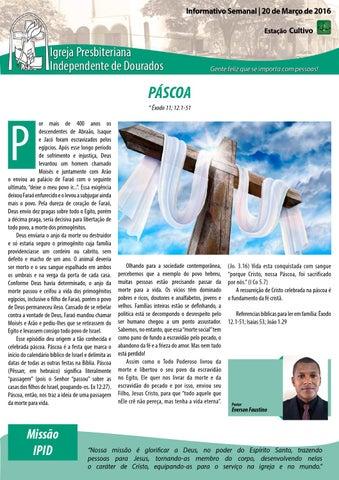 Boletim Informativo - 20 de Março de 2016