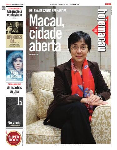 Hoje Macau 1 ABR 2016 #3543