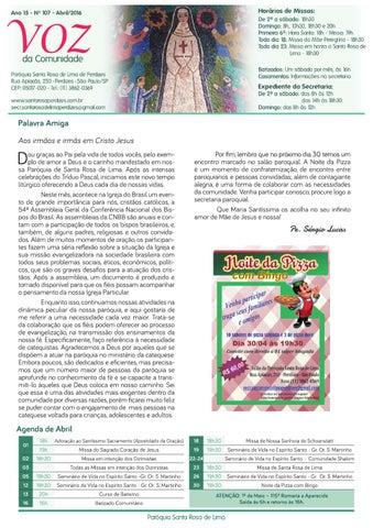 [Jornal Santa Rosa de Lima – Abril/2016]