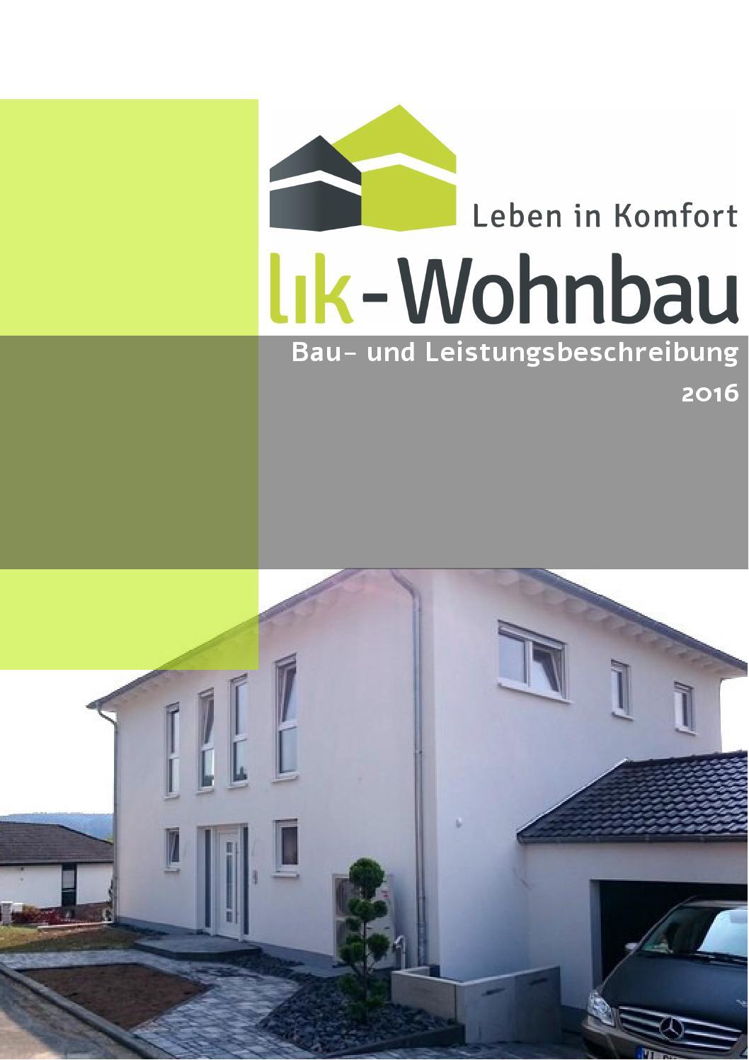 Lik wohnbau bau und leistungsbeschreibung 2016 by Michael Litvak ...