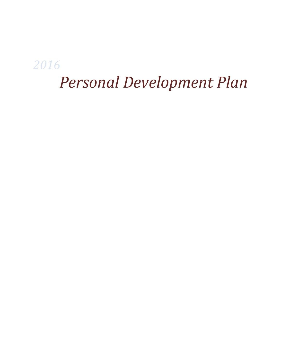 Personality Development Plan by Arvinte Giorgiana issuu – Personality Development Plan