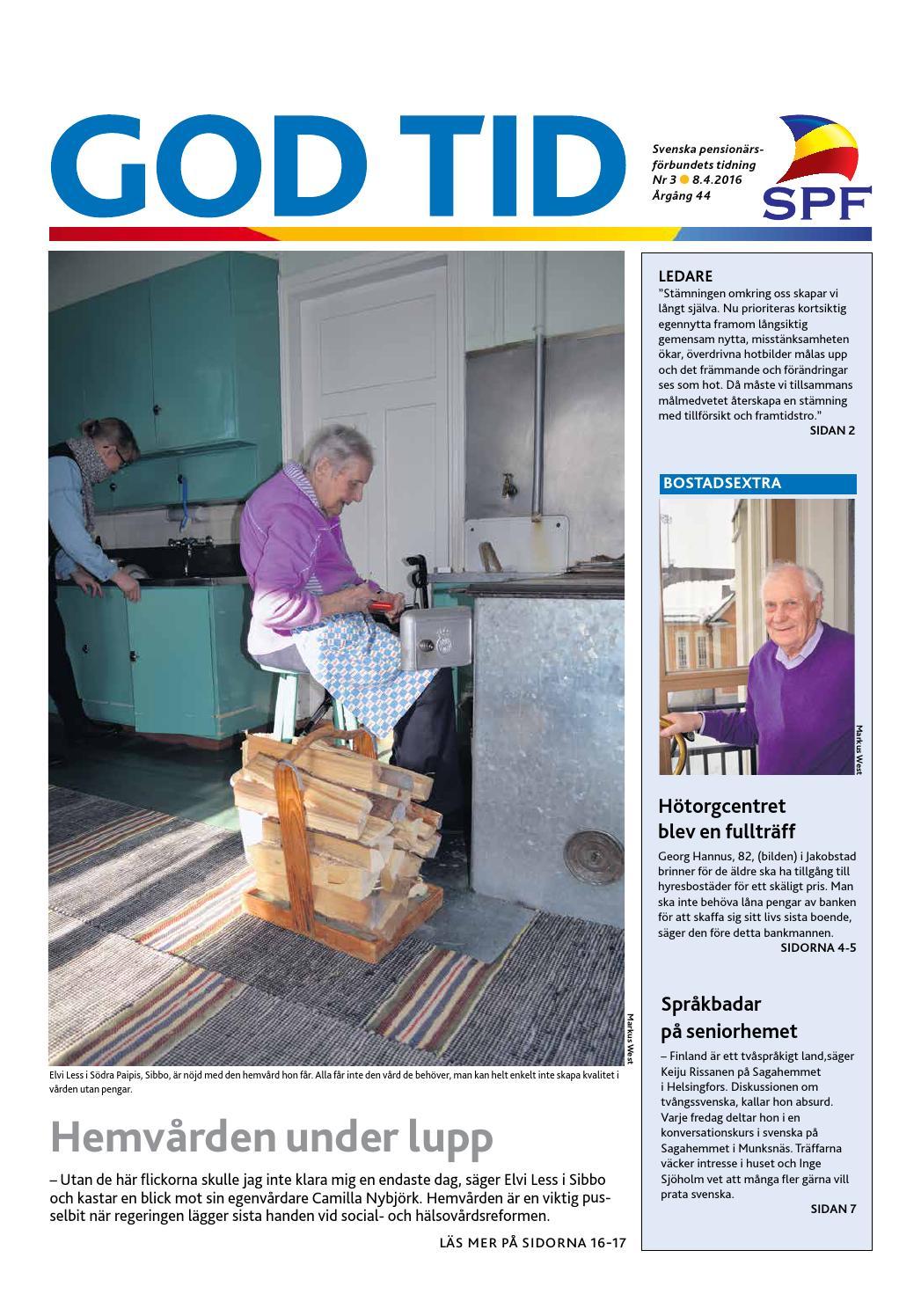 Gt0216 by Svenska pensionärsförbundet, God Tid - issuu