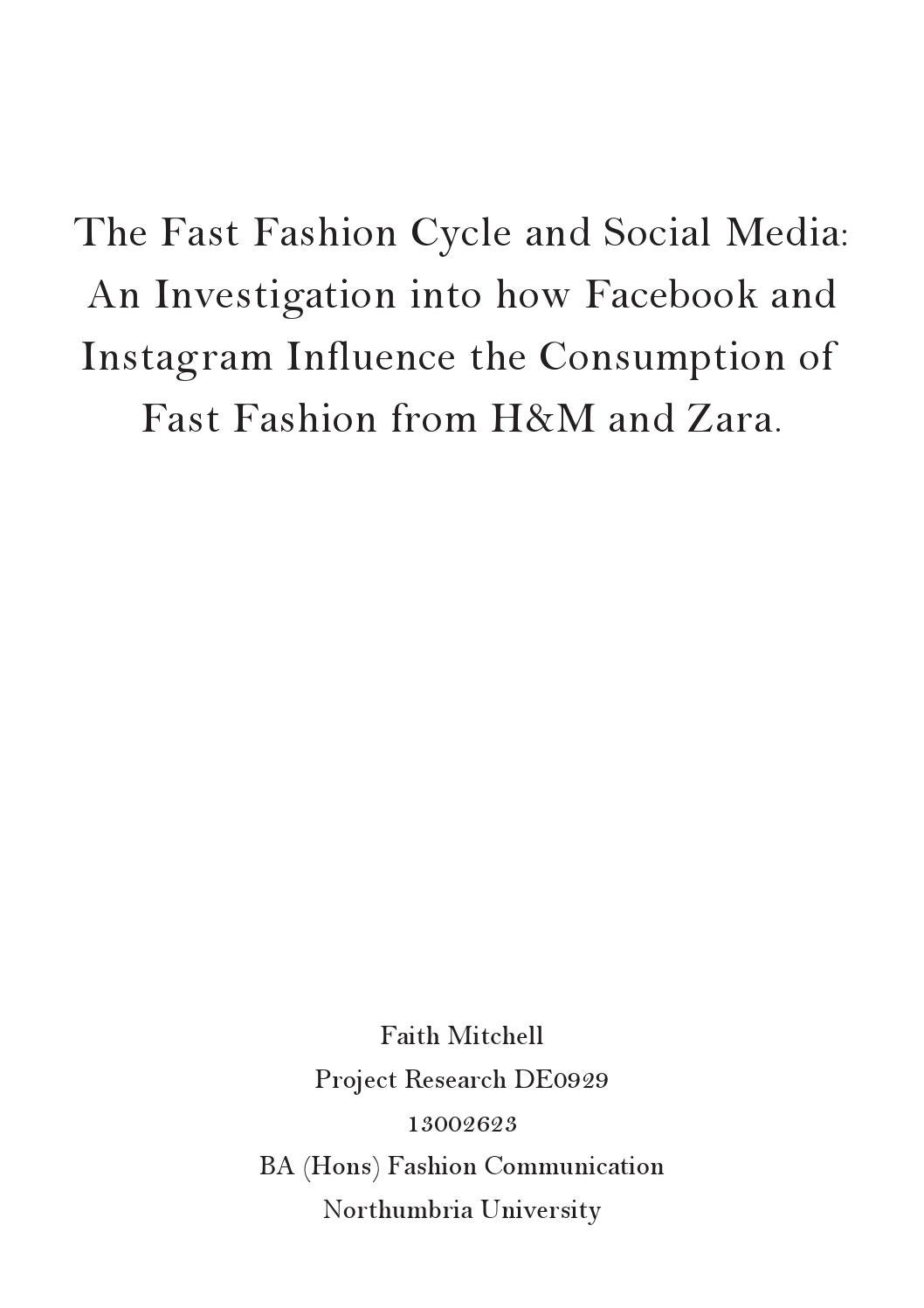stella mccartney report by mary cox  fast fashion and social media