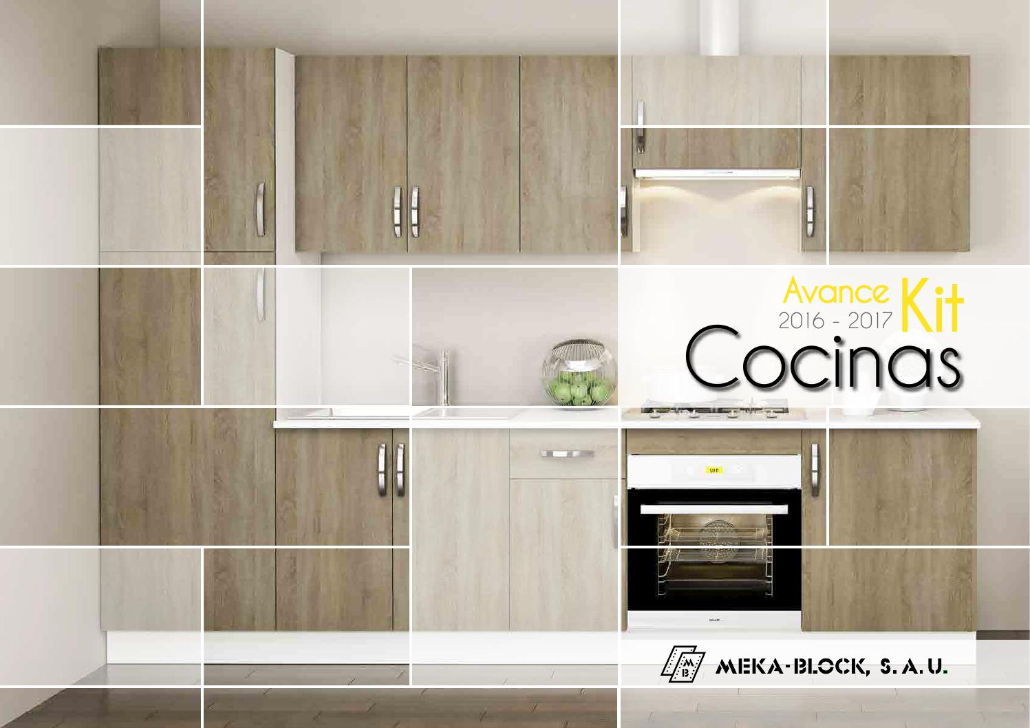Avance catalogo cocinas 2016 2017 de meka block by meka for Cocinas santos catalogo 2016