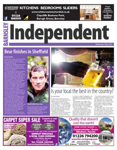 Front Cover Image for Barnsley Independent | May 3rd 2016