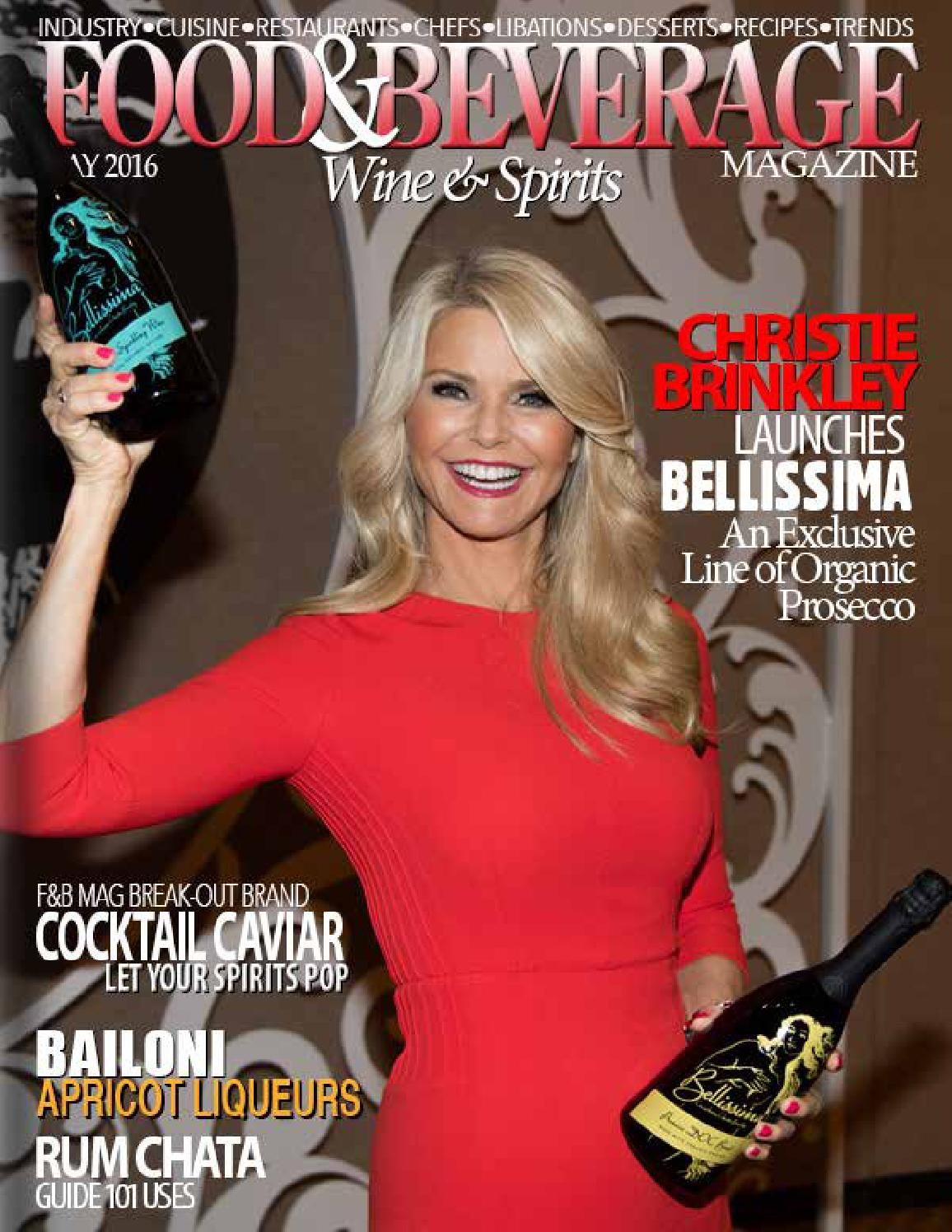 Image result for food and beverage magazine cover christie brinkley