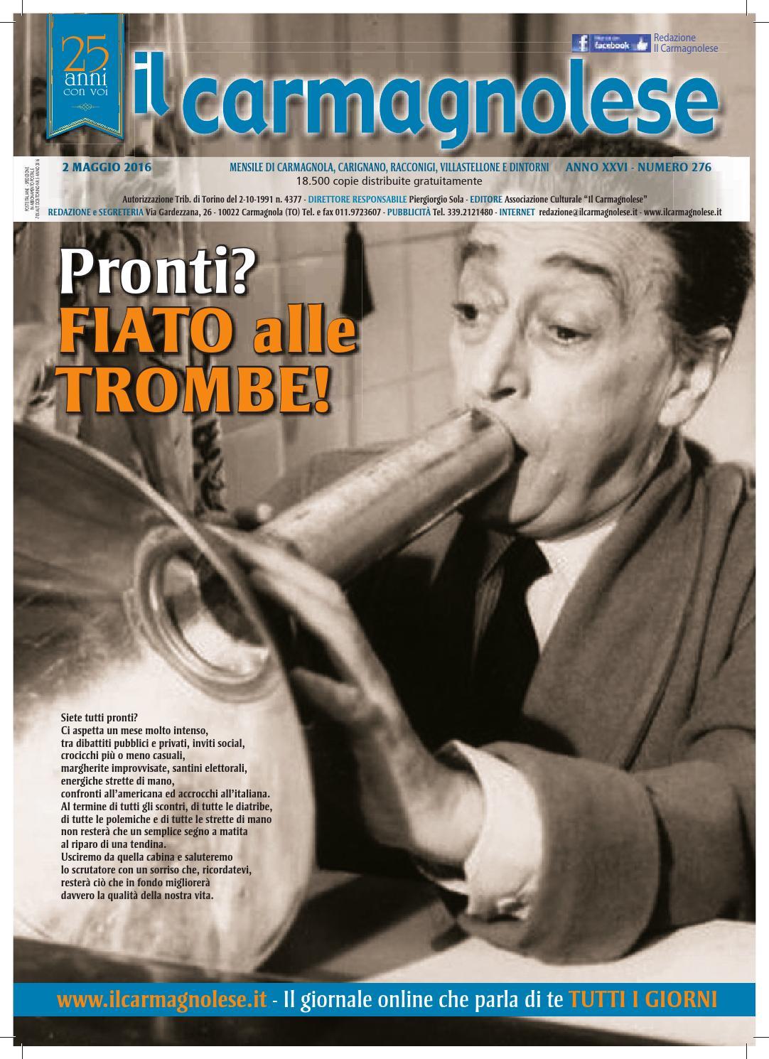 Il carmagnolese Aprile 2016 by Redazione Il Carmagnolese - issuu