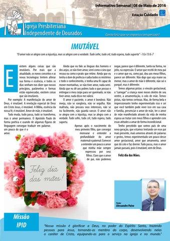 Boletim Informativo IPID   - 8 de Maio de 2016