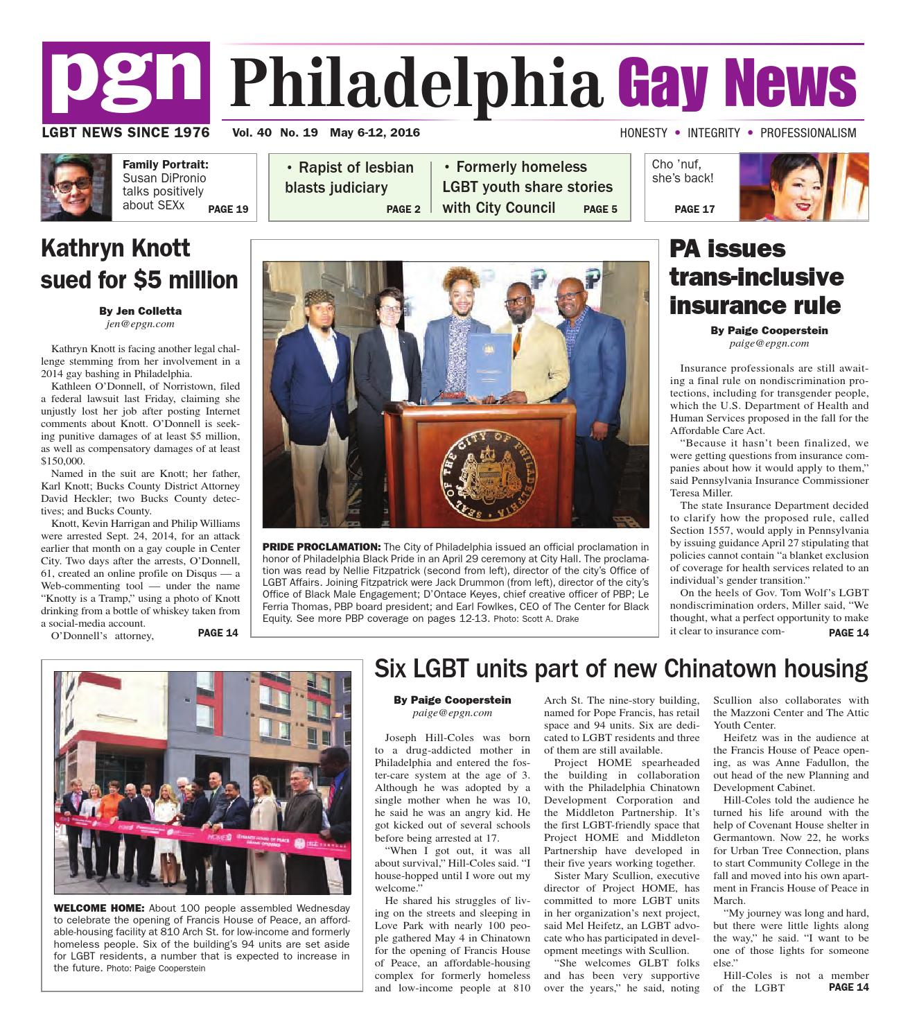 from Brooks gay newspaper philadelphia pa