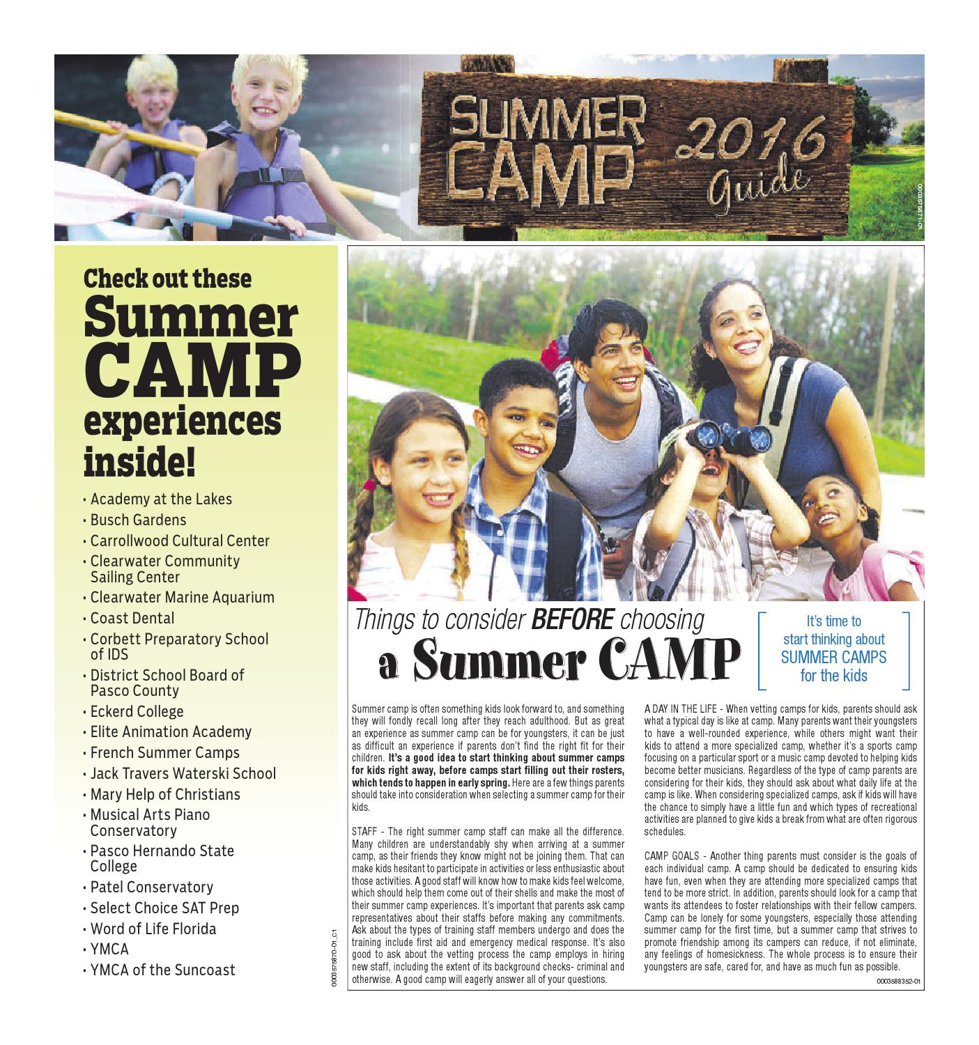 2016 Summer Camp Guide by Times Creative issuu