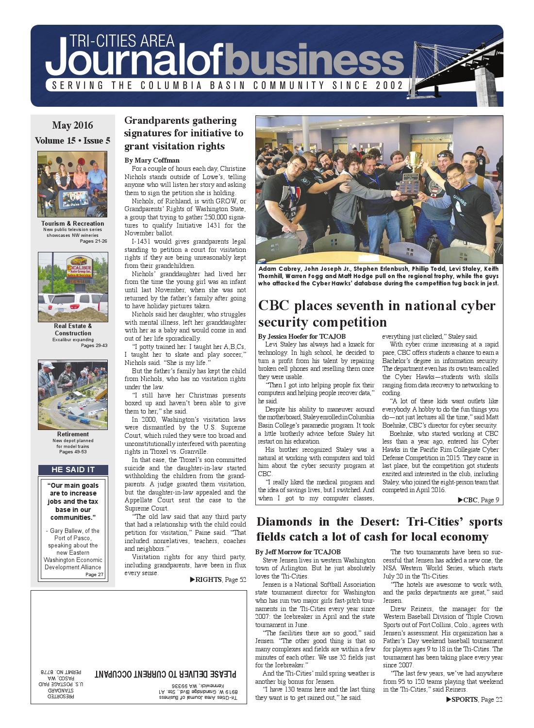Tri cities area journal of business may 2016 by tri for Home depot richland wa
