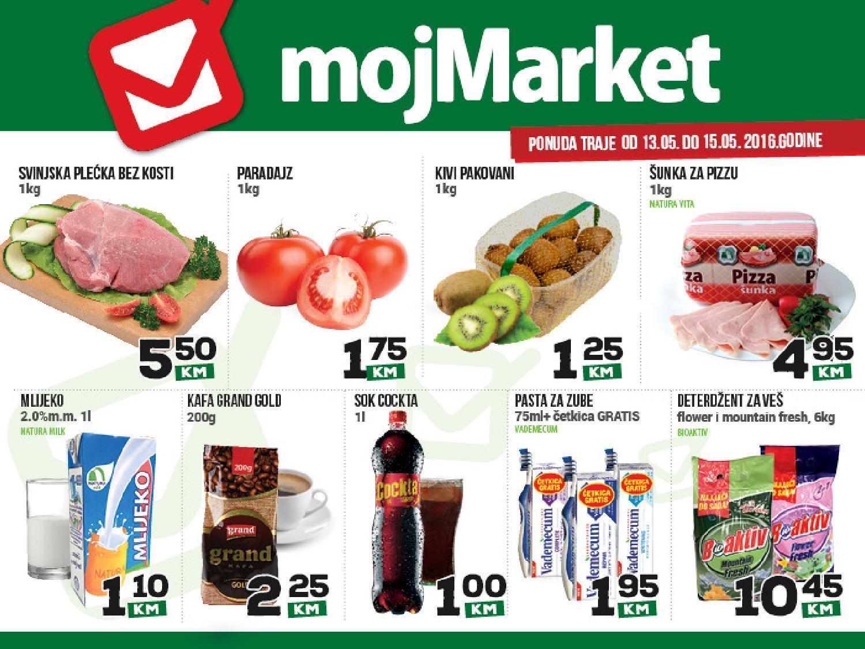 mojMarket vikend akcija od 13.-15.05.2016.