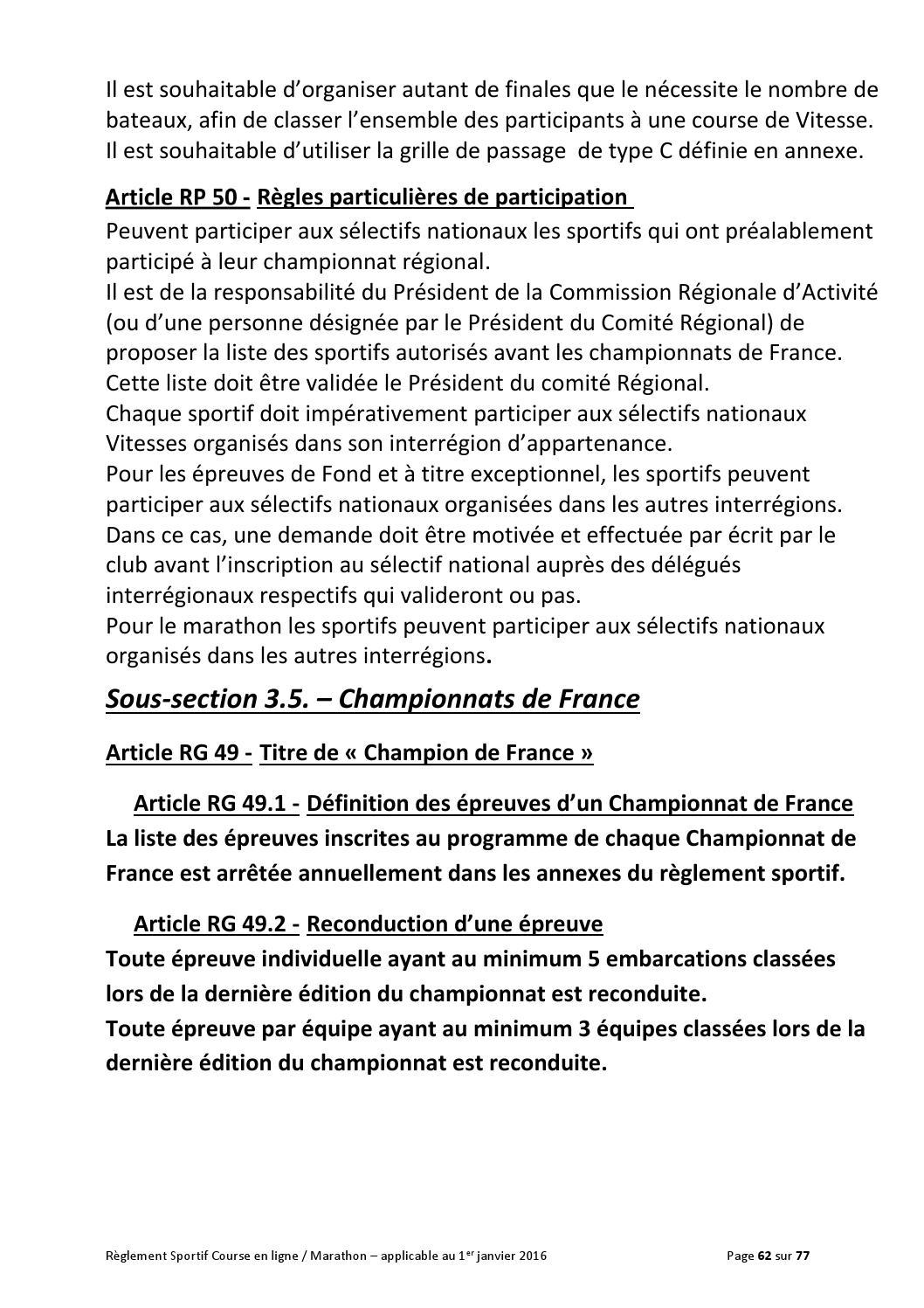 ffck reglement sportif course en ligne marathon 2016 by ffck page 63 issuu. Black Bedroom Furniture Sets. Home Design Ideas