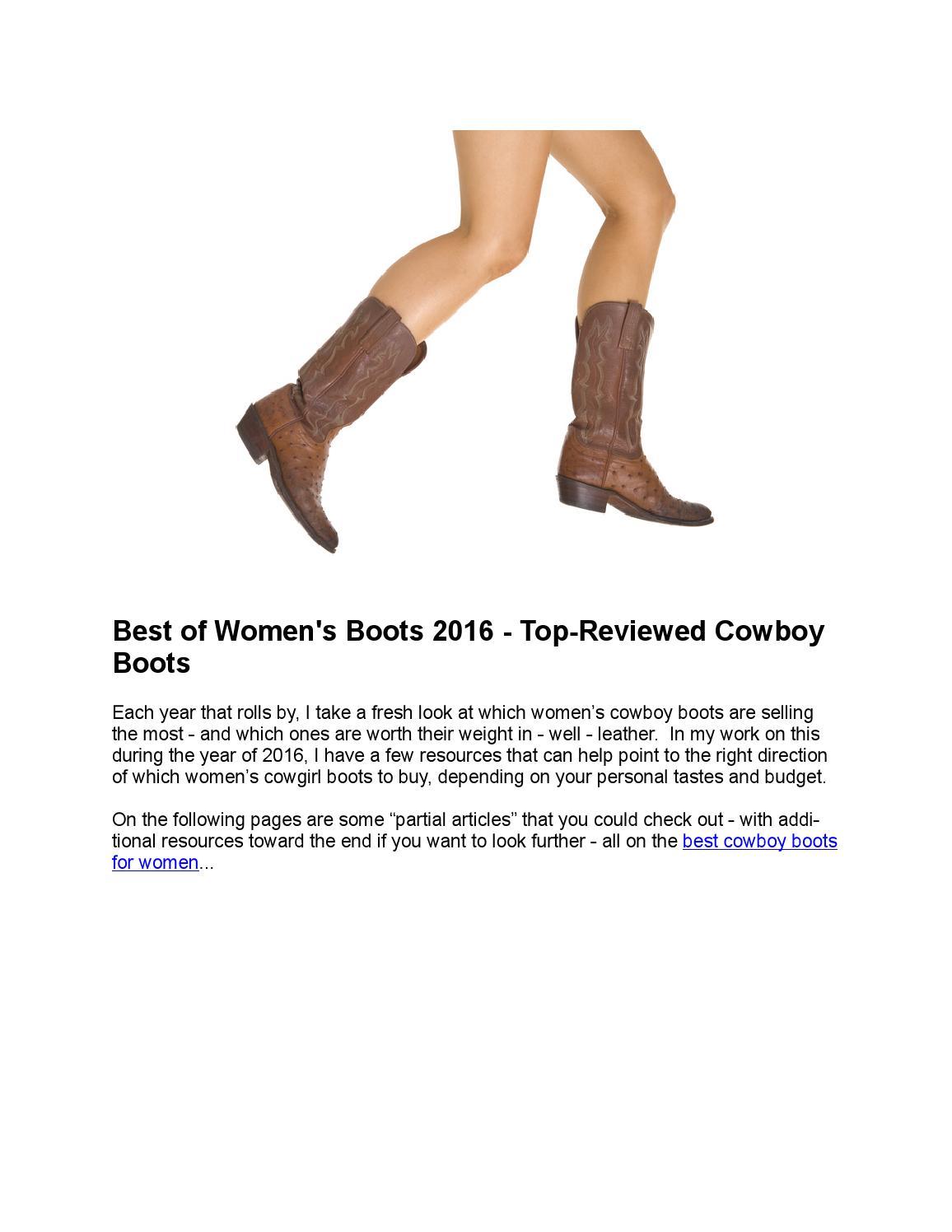 Best of Women's Boots 2016 - Top-Reviewed Cowboy Boots