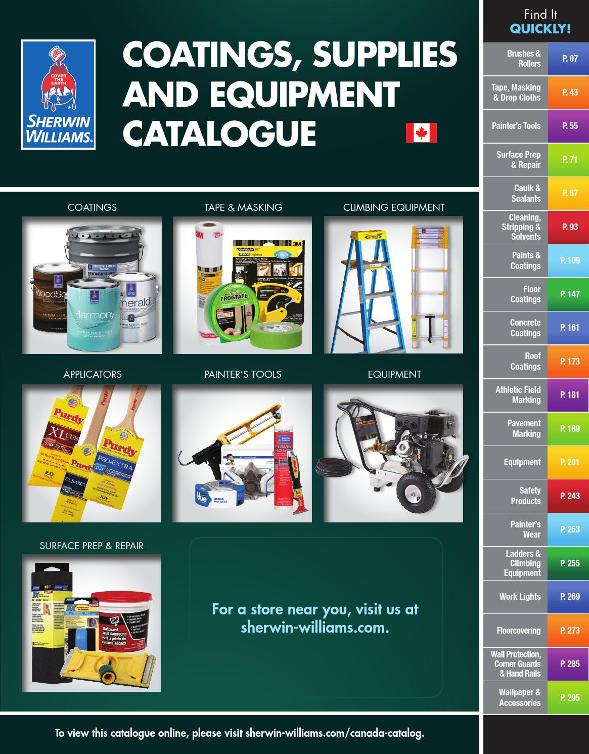Sherwin Williams Canada Catalogue Coatings Supplies