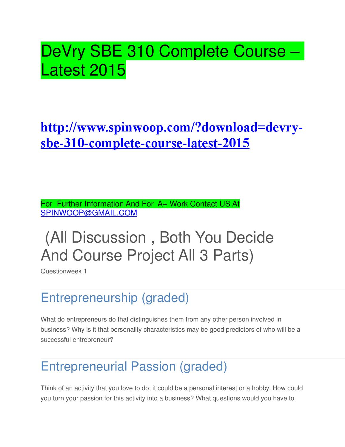 devry sbe complete course latest by loijam issuu