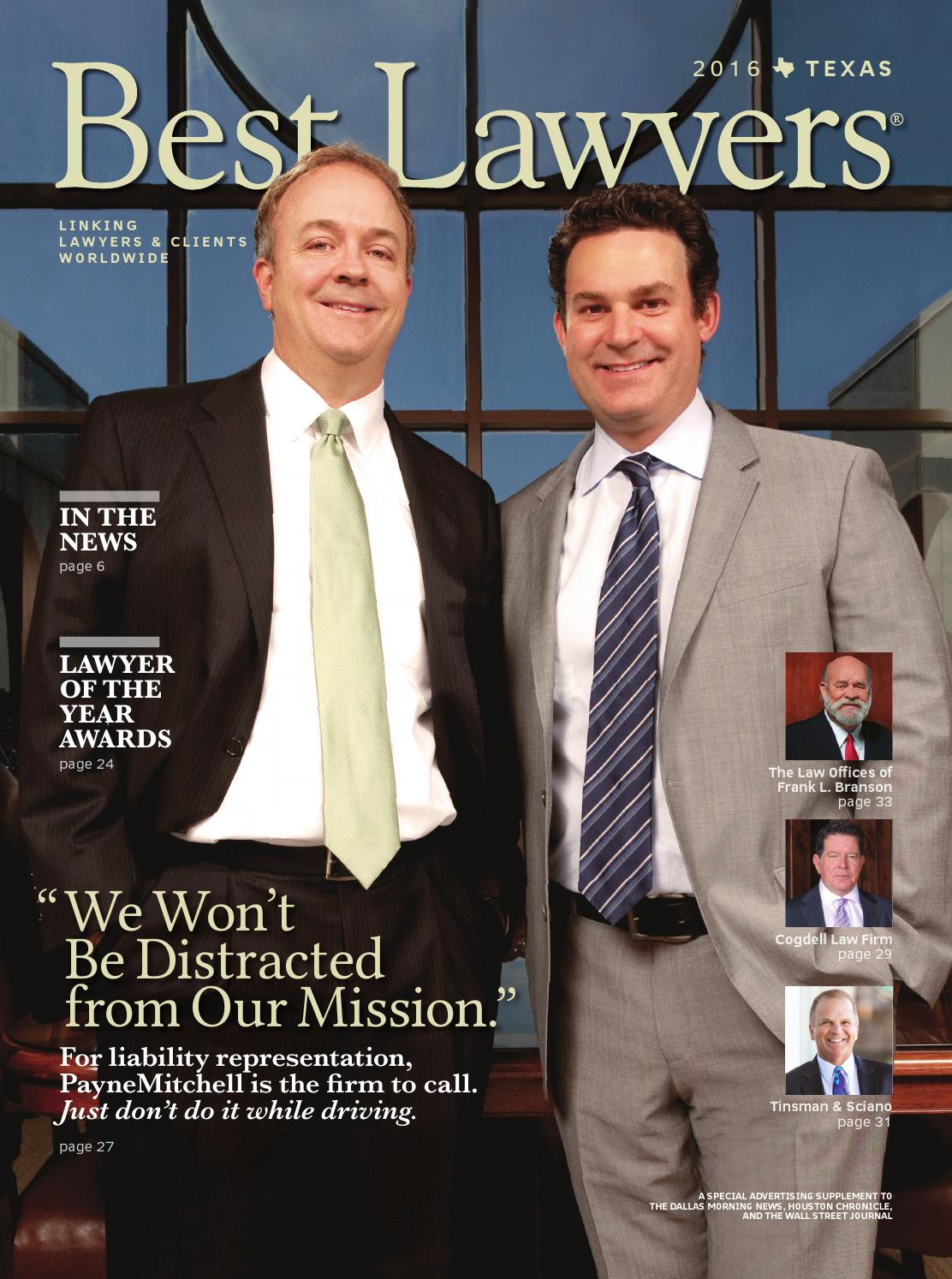 Best Lawyers In Texas 2016 By Best Lawyers Issuu