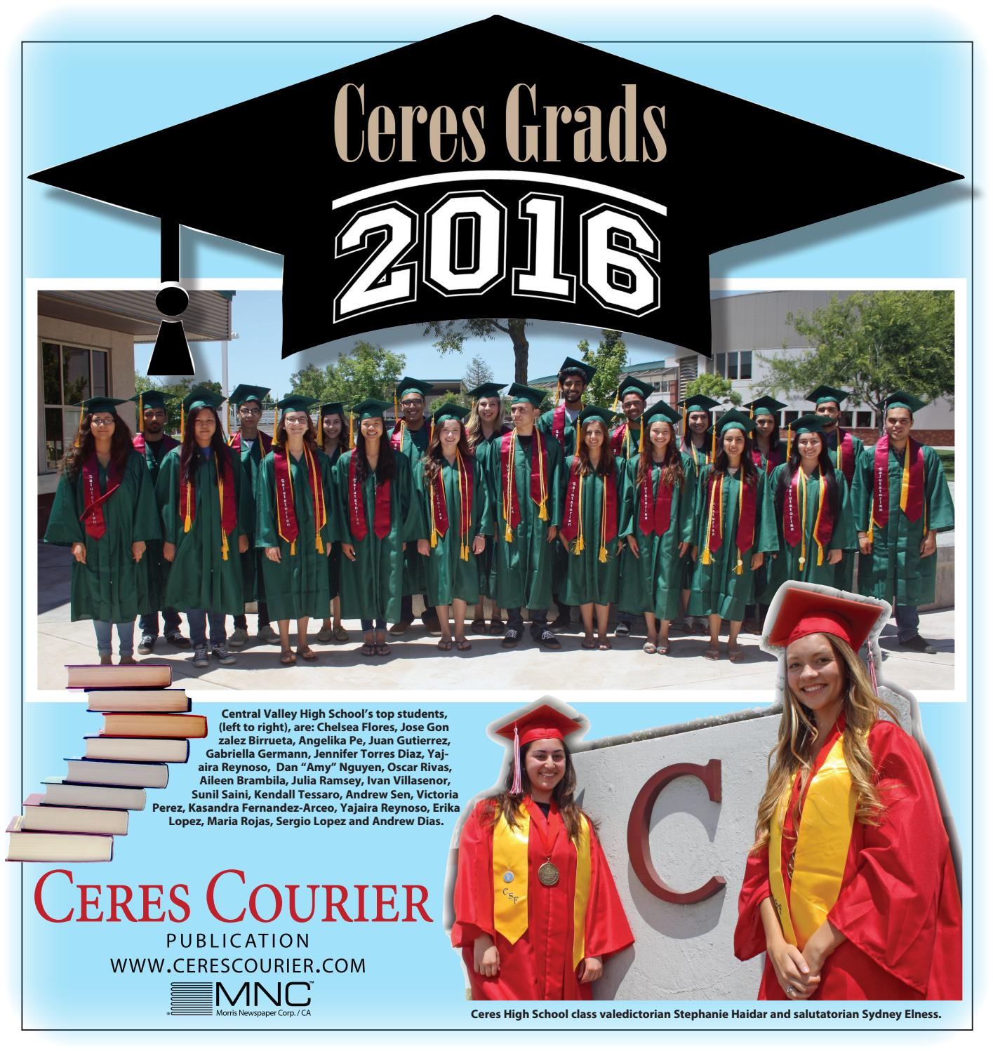 graduation class of by lee central coast newspapers issuu ceres graduation tab 2016