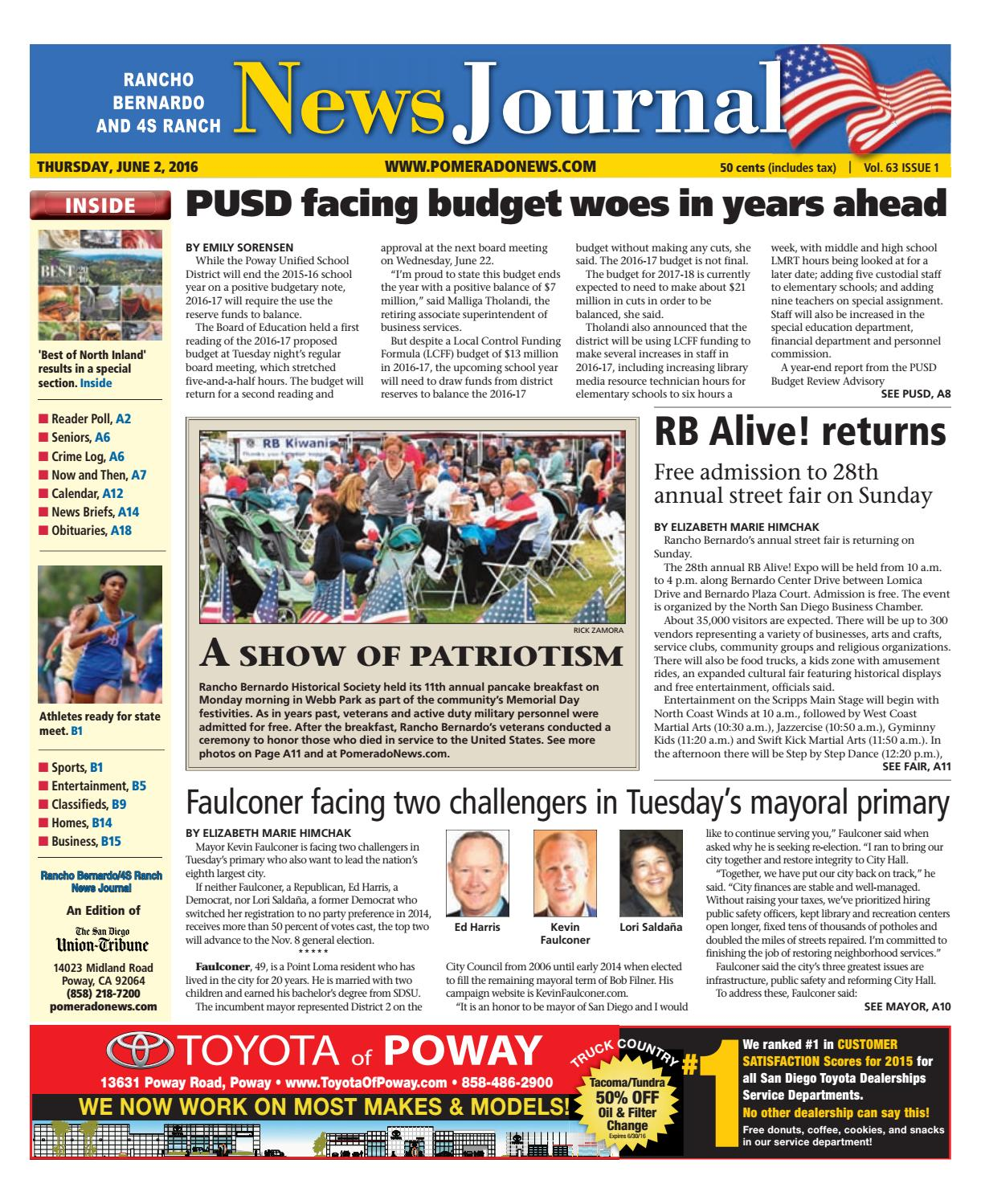 Rancho bernardo news journal 06 02 16 by MainStreet Media - issuu