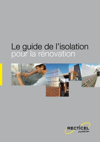 le guide de l isolation pour la r novation recticel brochures habitos. Black Bedroom Furniture Sets. Home Design Ideas