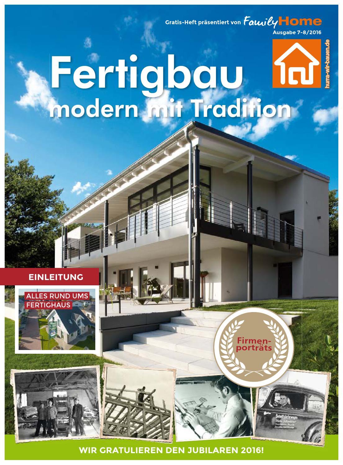 ^ Heft im Heft: Fertigbau 2016 by Family Home Verlag GmbH - issuu