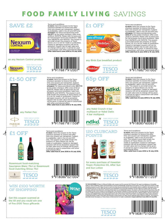 Tesco magazine online coupons