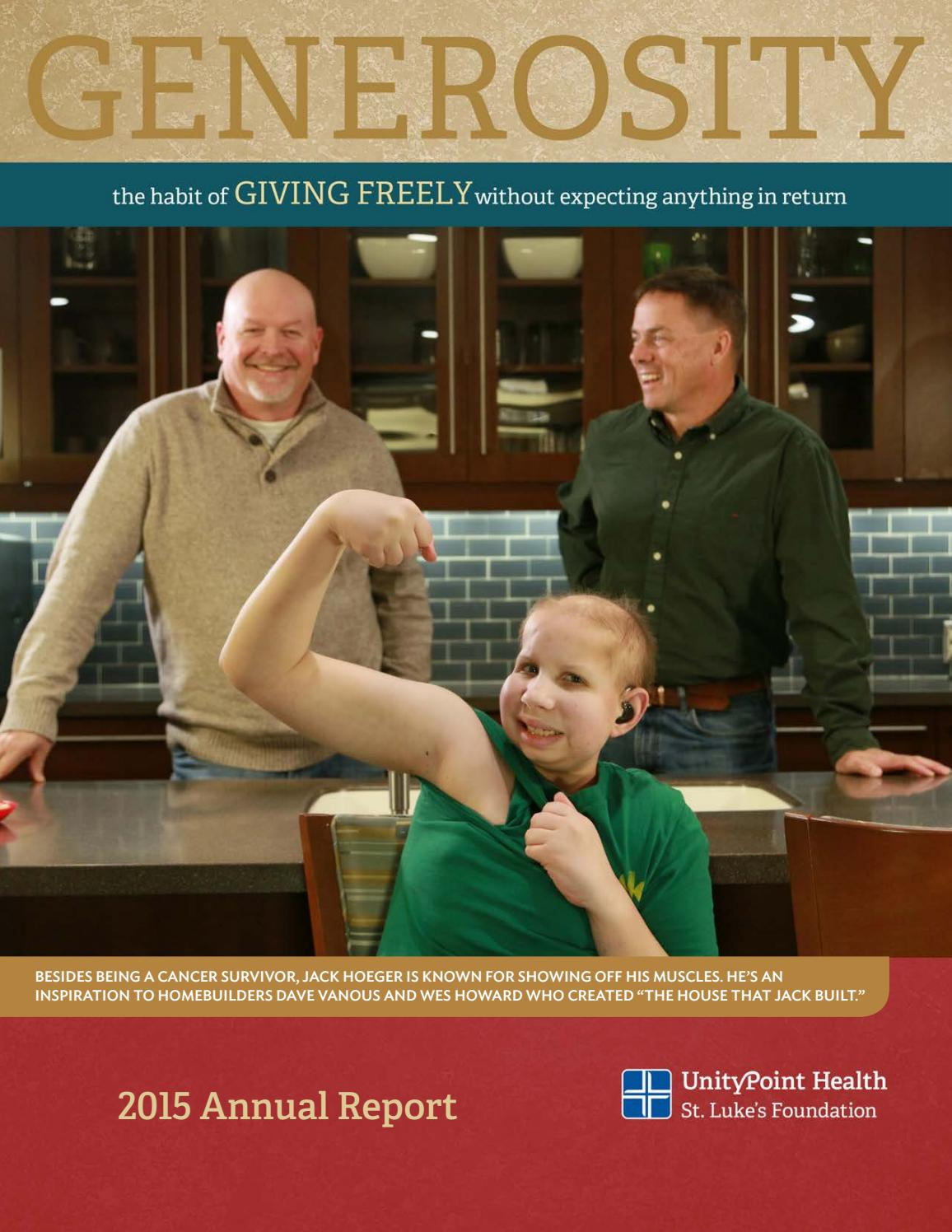 st luke s foundation annual report by unitypoint health issuu