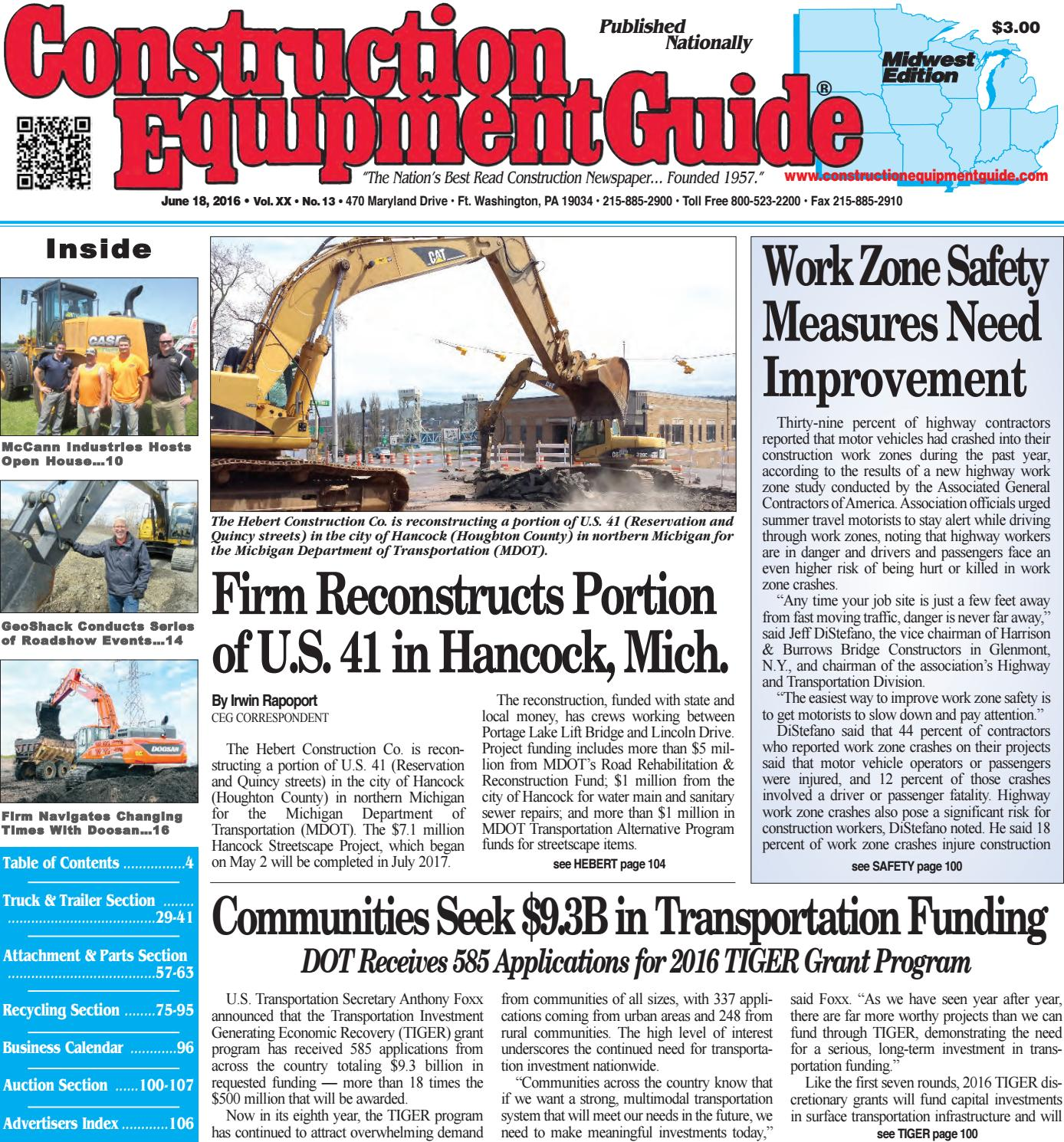 midwest 01 2016 by construction equipment guide issuu