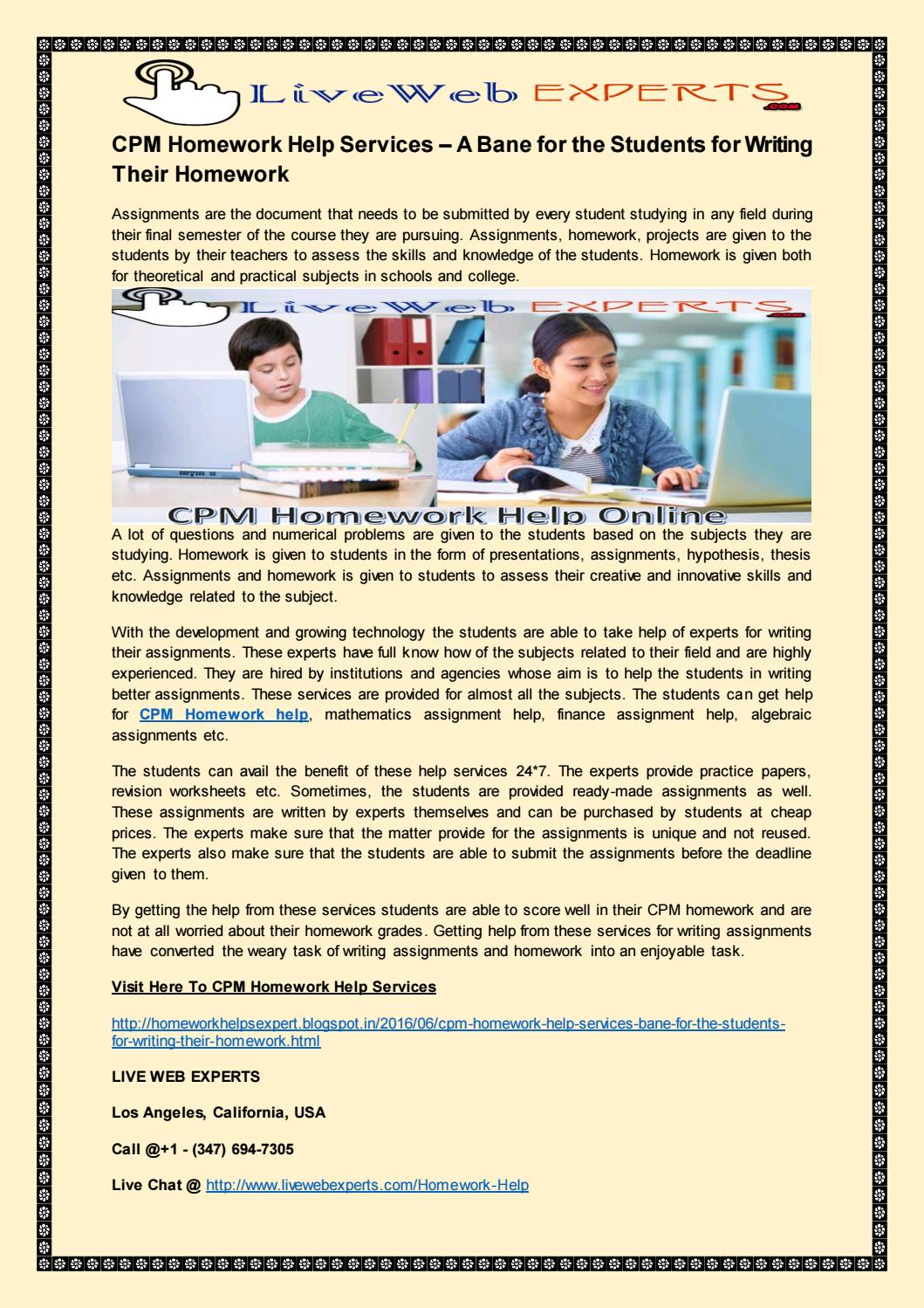 www cpm org homework help Cpm helpcpm homework help is an academic writing guide accomplished by professional writersorder of essay paragraphs cpm com homework help homework help malcolm x i need an dissertation writier to finish mymath homework help.