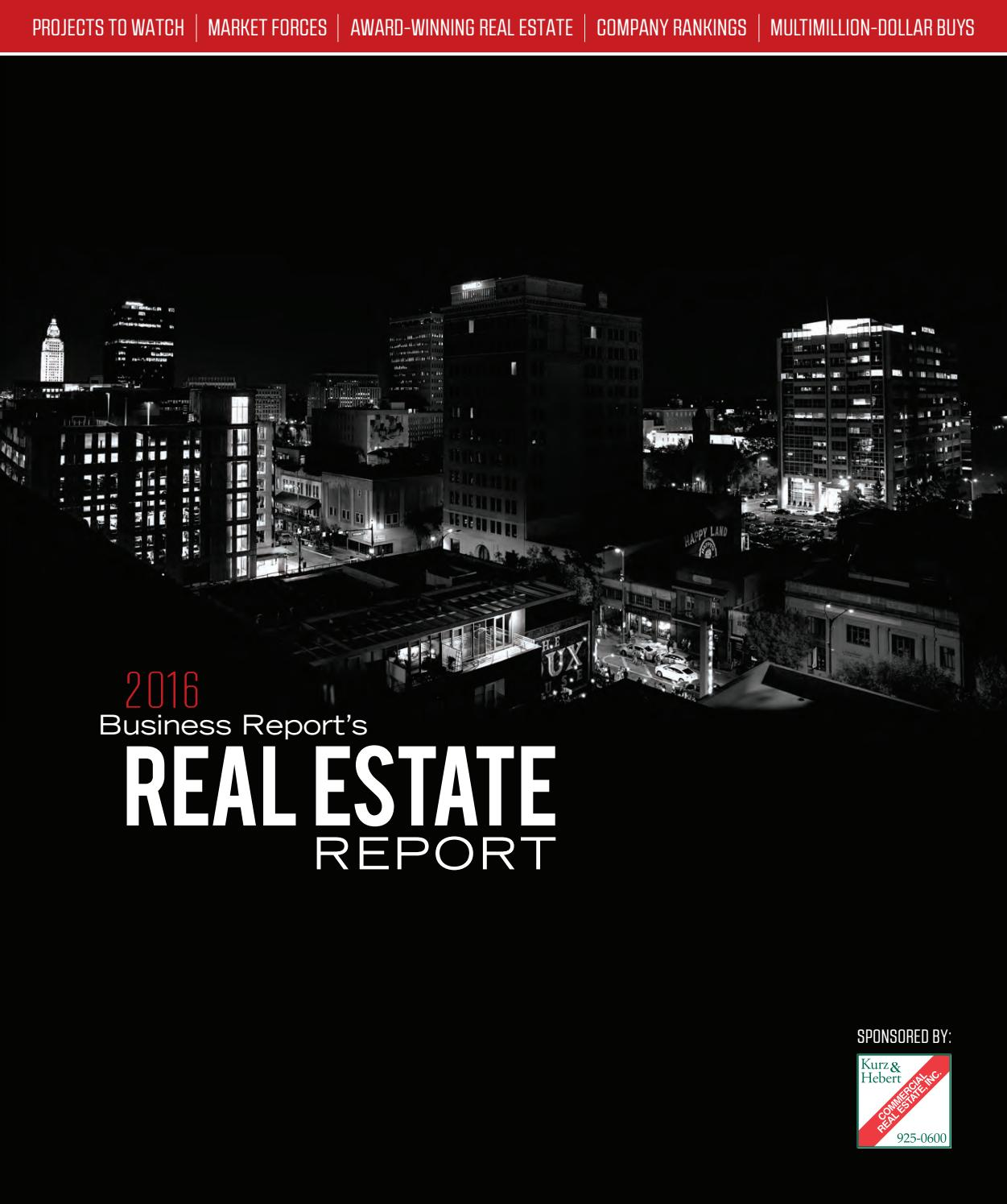 2016 Baton Rouge Real Estate Report By Baton Rouge