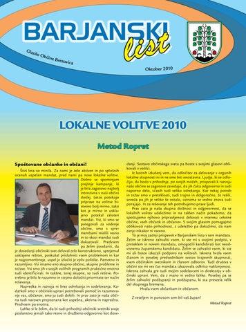 Barjanski list volitve 2010